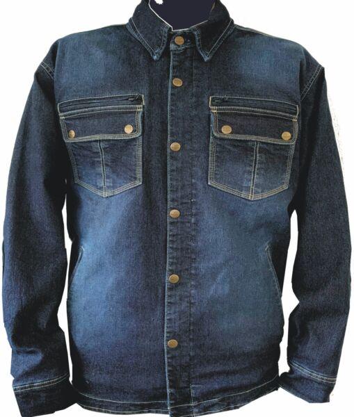 Bores Driver-Shirt - Motorrad -Stretch Denim Jeanshemd - BorteXX Aramid - blau