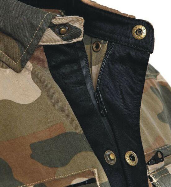 Bores Militaryjack - Motorradhemd Damen - Army Camouflage - BorteXX Aramid