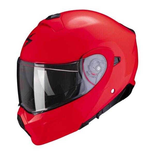 Scorpion Klapphelm EXO-930 SOLID Neon Rot XS-2XL