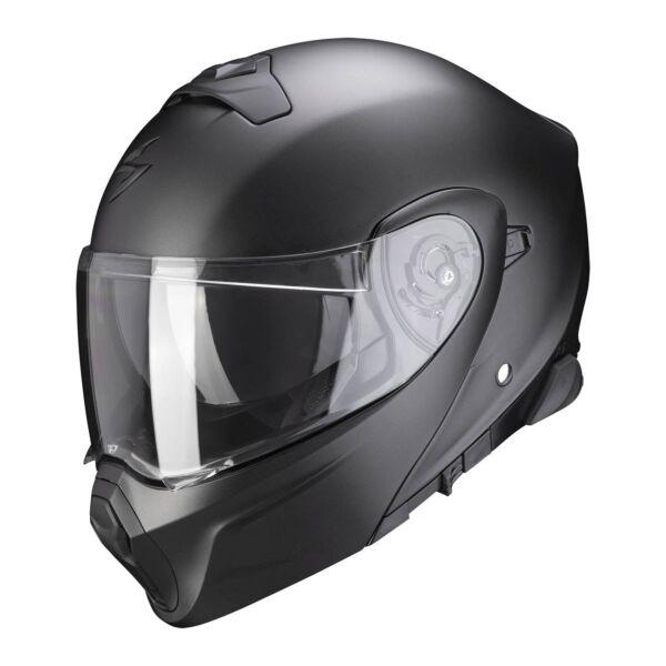 Scorpion Integral Helm EXO-930 SMART Solid Matt Perlmutt Schwarz XS-2XL