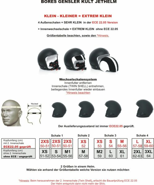 Bores Gensler Kult - Jethelm - DEKOR USA - ECE 22.05 geprüft - matt-schwarz