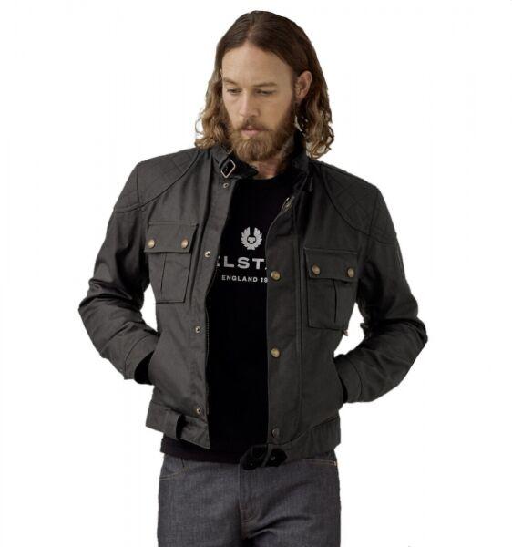 Belstaff Brooklands 2.0 – Motorrad Wachsjacke schwarz