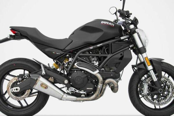 ZARD Edelstahl Auspuff Basso Ducati Monster 797, 17- (Euro4) (Stück)
