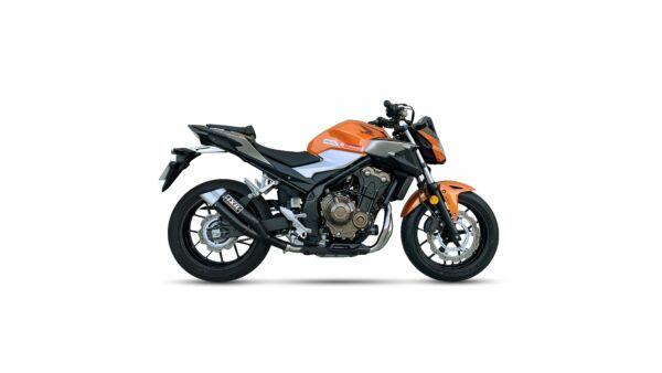 IXIL Hyperlow black XL Edelstahl-Endtopf für Honda CBR500R/CB500F,19- (PC62,PC63)(Euro4) (Stück)