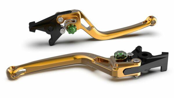 LSL Bremshebel BOW R32, gold/grün (Stück)