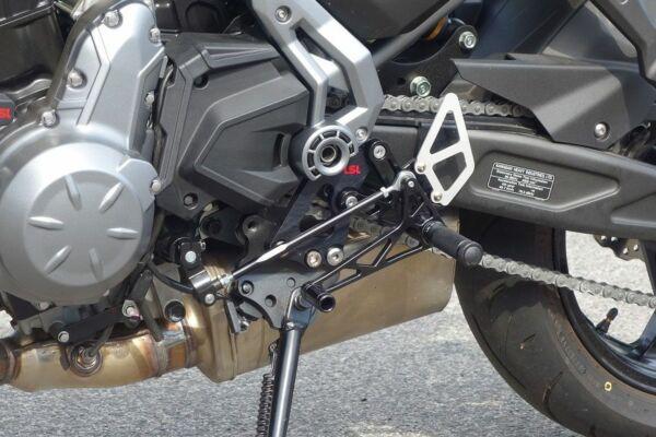 LSL Ersatzteil Rastenanlage 110K155-RSW Schaltseite Kawasaki Z650/Ninja 650 17- bl Race Ver (Stück)