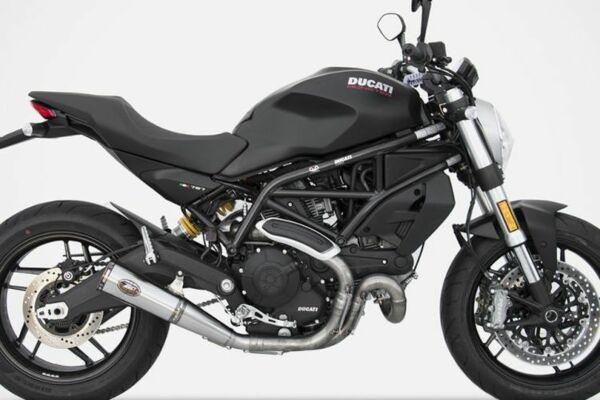 ZARD Edelstahl Auspuff Zuma Ducati Monster 797, 17- (Euro4) (Stück)