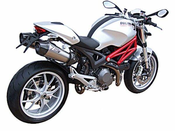 ZARD- Auspuff Ducati Monster 696/1100, 09-, Edelstahl, + Kat. (Stück)
