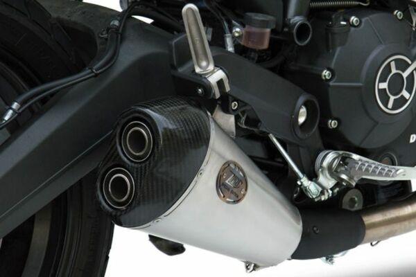 ZARD Edelstahl Auspuff Basso Ducati Scrambler 800, 17- (Euro4) (Stück)