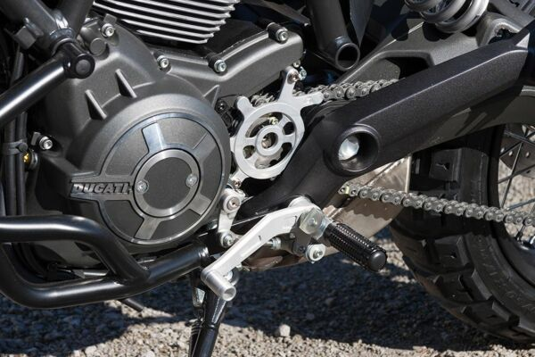 LSL Schalt/Bremseinheit Ducati Scrambler, silber (Stück)