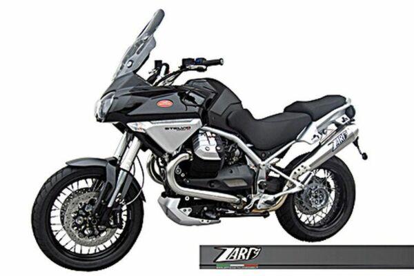 ZARD- Auspuff Moto Guzzi Stelvio 1200, -10, Edelstahl, + Kat. (Stück)