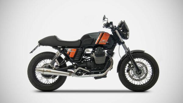ZARD- Auspuff Moto Guzzi V7 Classic, Edelstahl 2-2, + Kat. (Stück)