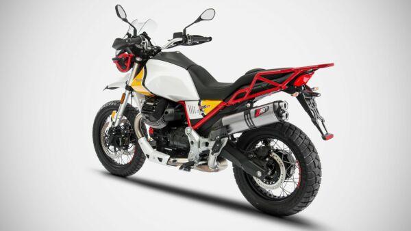 ZARD 2-1 Slip on Endschalldämpfer Moto Guzzi V85 TT, 2019-, slip on 2-1, E-gepr. (Stück)