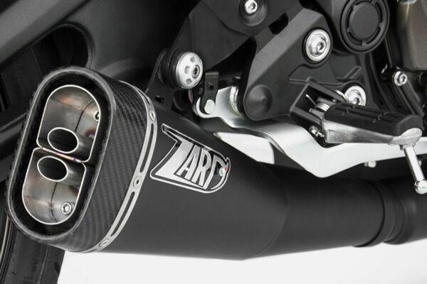 ZARD Edelstahl 2-1 Komplettanlage Yamaha MT 07, XSR 700, 17- (Euro4) (Stück)