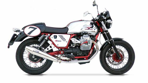 ZARD- Auspuff Moto Guzzi V7 Cafe Racer/Cafe Classic, poliert 2-2, + Kat. (Stück)