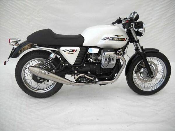 ZARD- Auspuff Moto Guzzi V7 Cafe Racer/Cafe Classic, Edelstahl 2-2, + Kat. (Stück)