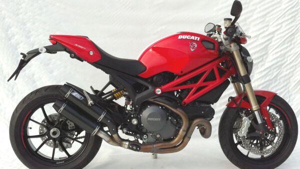 ZARD- Auspuff Ducati Monster 1100 Evo, Carbon mit schwarzer Endkappe (Stück)