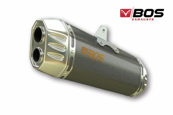 BOS slip-on Endtopf Desert Fox carbon steel für BMW R 1200 R/RS, 16- (Euro4) (Stück)