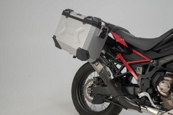 SW-Motech TRAX ADV Alukoffer-System + Akrapovic Silbern 45/37 l Honda CRF1100L AfricaTwin(19-) Set